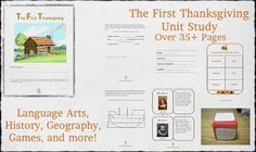 The First Thanksgiving Unit Study