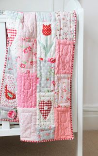 Helen Philipps: May 2013 .i added applique birds, hearts and of course those tulips with lots of red quilted tulips too