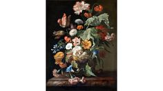 How Rachel Ruysch became the queen of floral still life - Catawiki Oil On Canvas, Canvas Prints, Art Prints, Canvas Artwork, Blue Morning Glory, Fill The Frame, Flower Wall, Wall Tapestry, Baroque