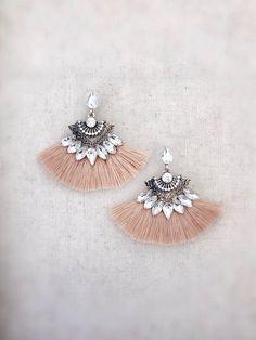 3d7af81b7cec15 Kilauea Tassel Earrings {Tan}, $16.99 | Ocean Bella Hawaii, Jewelry  Boutique,