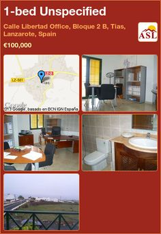 1-bed Unspecified in Calle Libertad Office, Bloque 2 B, Tias, Lanzarote, Spain ►€100,000 #PropertyForSaleInSpain