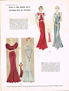 Download all the beautiful pattern pictures in this Simplicity Magazine Fall1933