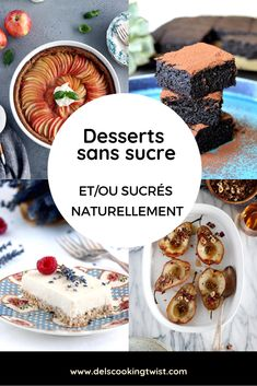 Sugar-Free and Naturally Sweetened Desserts. Cut processed sugar from your diet with these mouthwatering sugar-free or naturally sweetened desserts. Your way to a healthier life. Chocolate Chip Granola Bars, Chocolate Chip Blondies, Low Sugar Desserts, Diet Desserts, Healthy Sweets, Healthy Foods To Eat, Healthy Recipes, Tolle Desserts, Sugar Free Diet