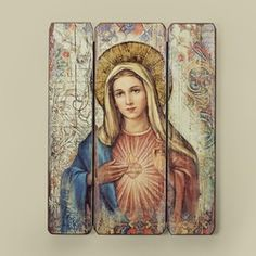 Immaculate Heart of Mary Wall Plaque   The Catholic Company