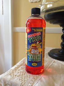 TKO Orange Oil: If you get too much dark wax on Annie Sloan Chalk Paint, TKO will wipe off some/most of it! Good tip!