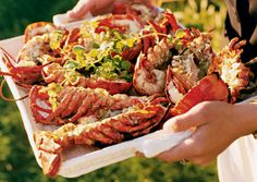 Nom! Grilled Lobster with Ginger, Garlic and Soy Sauce recipe from Bon Appetit