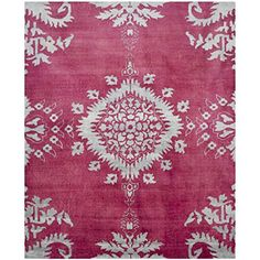 Safavieh Stone Wash Collection STW235C Hand-Knotted Fuchsia Premium Wool Area Rug (9' x 12') * Want additional info? Click on the image.