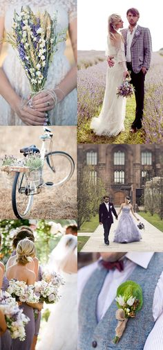 Wedding ideas and inspiration for an outdoor wedding in hues of lavender.