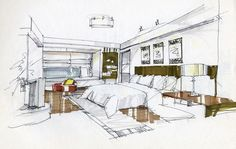Bedroom Interior Design Sketches 3D House Free 3D House Wallpaper