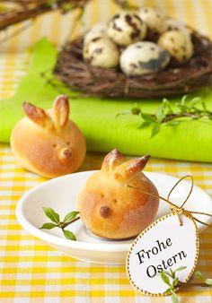 Osterhasen-Brötchen backen - Rezept für Kinder