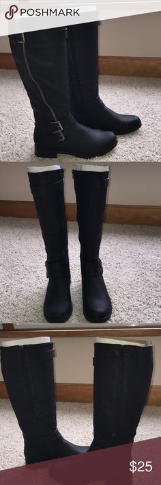 Maurice's Black Boots Size 9 Maurice's Black just below the knee boots size 9. Only worn one time. Excellent condition. Maurices Shoes Combat & Moto Boots
