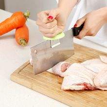 New Stainless Steel Knife Cap Dual-purpose Kitchen Chopping Booster Knife Holder Kitchen Gadgets(China (Mainland))