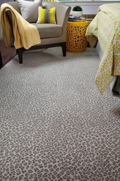 Grey Leopard Carpet for my closet/office/guest room.