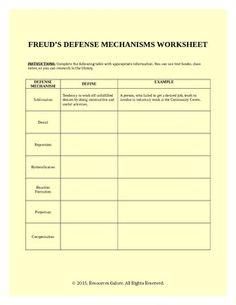 defense mechanism worksheet worksheets denial and ap psychology. Black Bedroom Furniture Sets. Home Design Ideas