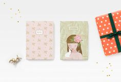 CHRISTMAS GIFT: Any 2 or 3 PERSONALIZED Notebook by BellePivoine