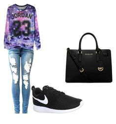 """outfit casual"" by camila-antonia-pavez-fernandez on Polyvore featuring NIKE and MICHAEL Michael Kors"