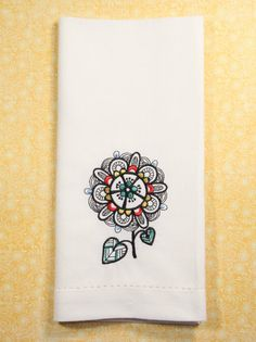 We offer custom embroidered cotton or matte poly napkins in black, white or ivory. The design can be placed at an angle in the corner or straight on the edge (see photos above). - Set of 4 napkins - M                                                                                                                                                      More