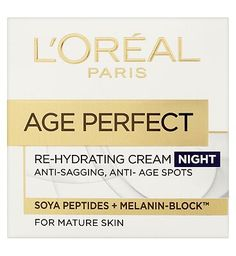 Loreal LOral Paris Age Perfect Re-Hydrating Night 32 Advantage card points. LOreal Paris Age Perfect Re-hydrating Night Cream helps protect skin against sagging and the appearance of age spots. Enriched with Melanin-block and Soya Peptides with lipid http://www.MightGet.com/february-2017-1/loreal-loral-paris-age-perfect-re-hydrating-night.asp