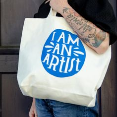 Lisa Congdon I Am an Artist Tote Bag by lisacongdon on Etsy