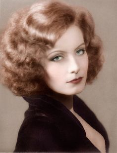 The beautiful Greta Garbo, in color. So beautiful!