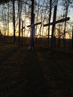 Easter sunrise service. Providence Baptist Church in Richville.  Coosa County, Alabama April 5,2015
