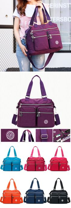 Waterproof Nylon Tote Bag : Crossbody Bag/Handbag