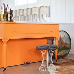 Orange piano? YES please. Don't play and never will but sheesh, I love this!