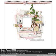 Layer Works No. 800- Studio Double-D Templates- LT232139- DesignerDigitals