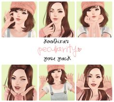 My Sims 3 Blog: Koolhira's Peculiarity Pose Pack