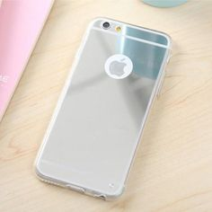 Luxury Mirror Electroplating Soft Clear TPU Cases For iphone 6 6 Plus inch 5 SE Back Cover Capa Iphone 5s, Apple Iphone, Iphone Cases, Luxury Mirror, 6s Plus, Packing, Cover, Products, Bag Packaging
