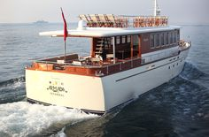 The Armada Boat Yacht Design, Boat Design, Armada Hotel, Classic Wooden Boats, Classic Boat, Vw Wagon, Boat Hire, Classic Yachts, Old Boats