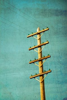 """""""this is what power lines used to look like..they had the glass insulators"""""""