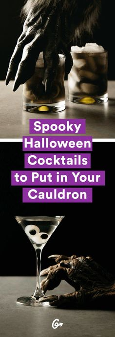 Double, double toil and trouble. #halloween #cocktails http://greatist.com/eat/halloween-cocktails-for-a-scary-good-time