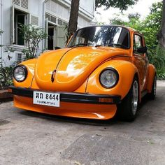 Super Beetle - don't normally like the front spoiler idea but this doesn't look bad. Vw Pointer, Vw Super Beetle, Beetle Bug, Combi Wv, Volkswagon Van, Hot Rods, Hot Vw, Vw Vintage, Vw Cars