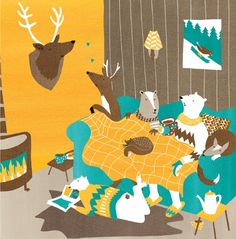 Cosy cover by Ilse Weisfelt, via Behance