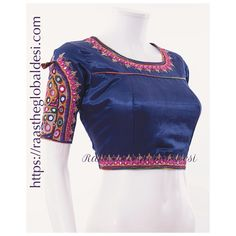 readymade saree blouse online USA We supply variety of blouses which can be mixed and matched with variety of Sarees . Mirror Work Blouse, Hand Work Blouse, Fancy Blouse Designs, Sari Blouse Designs, Blouse Patterns, Blouse Outfit, Saree Blouse, Black Silk Blouse, Blue Blouse