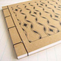 Japanese Stab Bound Hand Drawn Pattern Notebook - by PaisleyandBrownPaper on madeit