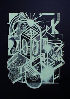 Kouglof Sérigraphie sur papier Keaykolour Original Ébène 300 gr/m2 Street Art, Art Graphique, School Design, Artwork, Strasbourg, Paper, Creative, David, France