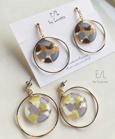 Marble hoop pierce/earring(004601) | E/L byLoretta