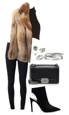 """""""Untitled #768"""" by elipenaserrano ❤ liked on Polyvore featuring STELLA McCARTNEY, American Retro, Chanel, Zara, Fendi, Pieces and Alexander McQueen"""
