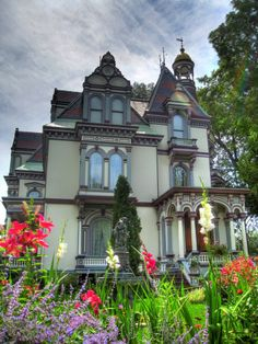 The Batcheller Mansion, the mansion was constructed in 1873 for George S. Batcheller and was inspired from French Chateaus in Saratoga Springs NY. All Rights Reserved Mziehnert/flickr