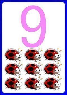 Fun number flashcards for preschool - Number Flashcards, Flashcards For Kids, Kids Math Worksheets, Teaching Numbers, Numbers Preschool, Math Numbers, Book Activities, Preschool Activities, First Year Teaching