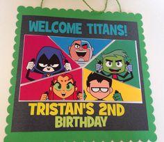 Teen Titans Door Sign Teen Titans Go Birthday | Teen Titans Go Party | Teen…