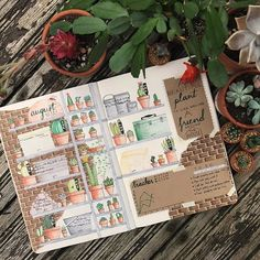 Week two of my greenhouse theme! I took inspiration from a Pinterest photo for the shelf layout, but ended up having to colour, draw and cut 35 individual cacti and succulents so I could keep the dark brick background, but pretty happy with how it turned out! - - - #leuchtturm1917 #bujobeauty #bulletjournal #bujo #bulletjournaling #bujolove #bujo2017 #studygram #study #diary #greenhouse #cactus #succulents #prismacolor #crayola #shed #weeklyspread #august #plants #nature #drawing #art ...