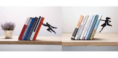 If you're a fan of flying superheroes (seriously, I don't think there's many among us who aren't,) these superhero and superheroine bookends and shelves might just be what y…