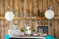 "Chalk this birthday party up under the ahhhdorable category! Krista Lii dreamed up a modern, stylish party for her two little ones based around her family's motto of ""All good things are wild and free"", and the results are spectacular! Cute details abound in this party infused with natural elements, free-spirited kiddos, and chic sweets.…"