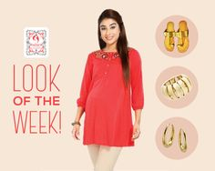 Coral colour with a touch of embroidery! Accessorize it with metallic chappals, a curved metallic bracelet, some long hoop earrings and you get a whole new look, altogether! Look Of the Week! Check out at www.ninematernitywear.com ! Shipping across globe. #pregnancy #pregnancystyle #summer #maternity #style #Pregnant #fprint #lookofweek #summerstyle #Maternityclothes #maternitytunics #pregnancyclothes #womensfashion #fashionable #trendy #stylish #maternitywear