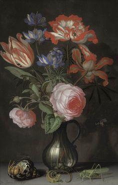 Balthasar van der Ast (Middelburg 1593/94-1657 Delft), Still Life with Flowers, ca.1630, The Rose-Marie and Eijk van Otterloo Collection