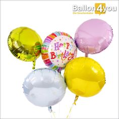 """Ballonbukett XXL - Happy Birthday bunt mit Sternchen     Gehüllt in bunten Farben, begeistert dieses Geburtstagsbukett speziell Frauen und Mädchen. Im Mittelpunkt steht zentral die Botschaft """"Happy Birthday"""". Gemeinsam mit vier weiteren Ballons schwebt dieses Geschenk pünktlich zum Wunschtermin bei der beschenkten Person ein."""