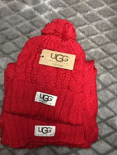 231a9006916 ugg hat And Scarf Set! Perfect Holiday Gift  fashion  clothing  shoes